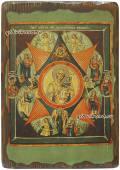 Неопалимая купина, икона под старину