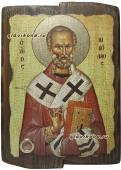 Николай Чудотворец, икона со старением