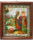Святые Петр и Феврония, икона в киоте