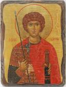 Георгий Победоносец икона состаренная