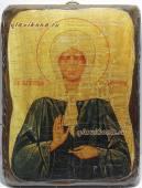 Матрона Московская, икона состаренная