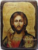 Спаситель, икона состаренная