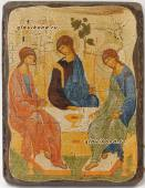 Троица состаренная икона
