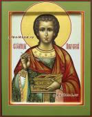 Икона Целителя Пантелеймона на доске, артикул 534