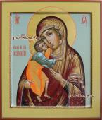 Феодоровская икона Божией Матери в стиле палеха