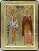 Киприан и Устиния икона на дереве