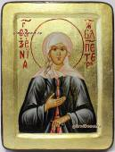 Икона Ксениии Петербургской на доске