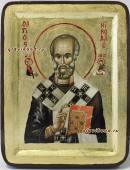 Икона Николая Чудотворца в бархатной коробке