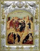 Рождество Христово (с волхвами), икона в ризе, артикул 43028