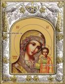 Казанская Божия Матерь Ярославский стиль икона в ризе артикул 41210