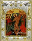 Воскресение Христово икона в ризе артикул 41652