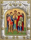 Архангелы Михаил Гавриил и Рафаил икона в ризе артикул 41158