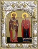 Киприан и Иустина, икона в ризе, артикул 41509