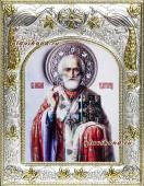 Николай Чудотворец (живописный), икона в ризе, артикул 41752