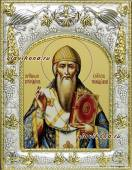 Спиридон Тримифунтский (в одеждах епископа), икона в ризе артикул 41741