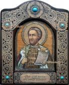 Икона изх бересты Александра Невского