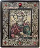 святой князь Георгий, икона на бересте