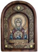 Знамение, икона на бересте