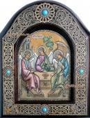 святая Троица икона на бересте