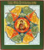 Неопалимая купина икона рукописная артикул 282