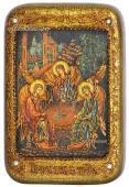 Святая Троица, икона с камнями