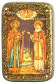 Петр и Феврония икона с камнями