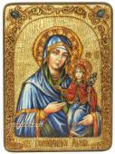 Праведная Анна, икона под старину с камнями