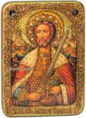 Александр Невский икона под старину с камнями