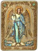 Ангел Хранитель, икона с камнями