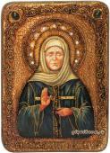 Матрона Московская, икона с камнями