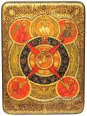 Всевидящее око икона под старину с камнями