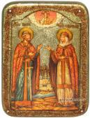Петр и Феврония, икона в подарочном футляре
