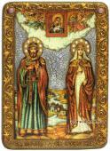 Петр и Феврония, подарочная икона под старину