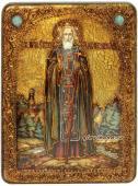 Ростовая икона Сергия Радонежского под старину