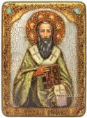 Василий Великий икона пожарочная под старину