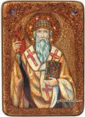Спиридон, икона подарочная под старину