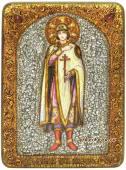 Князь Глеб, подарочная икона под старину