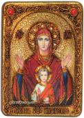 Знамение, икона подарочная под старину