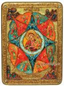 Неопалимиая купина, подарочная икона под старину