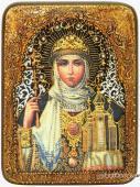 Ольга Равноапостольная подарочная икона на доске из дуба размер 15х20 см