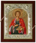 Пантелеймон - икона серебряная
