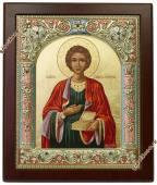 Икона Пантелеймона в окладе