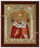 Николай Чудотворец греческая серебряная икона