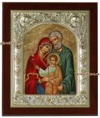 Святое Семейство икона серебряная