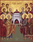 Собор двенадцати Апостолов, печатная икона