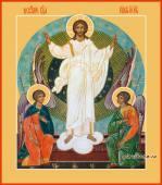 Воскресение Христово икона печатная на доске, артикул 90281