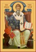 Спиридон Тримифунтский тронный печатная икона