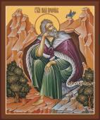 Илия пророк, икона на дереве печатная