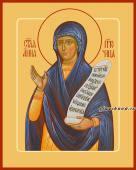 Анна Пророчица, икона на дереве печатная
