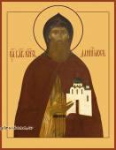 Даниил Московский, икона на дереве печатная